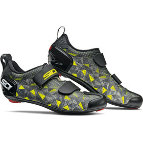 Sidi T-5 Air Carbon Schoenen Heren, grey/yellow/black